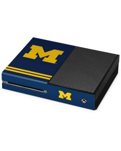Michigan Logo Striped Xbox One Console Skin