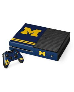 Michigan Logo Striped Xbox One Console and Controller Bundle Skin