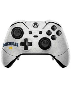 University of Michigan Heather Grey Xbox One Elite Controller Skin