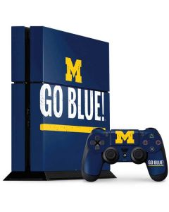 University of Michigan Go Blue PS4 Console and Controller Bundle Skin