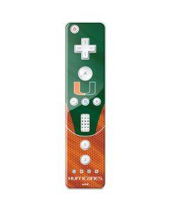 Miami Hurricanes Jersey Wii Remote Controller Skin