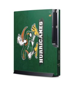 Miami Hurricanes Distressed Playstation 3 & PS3 Slim Skin