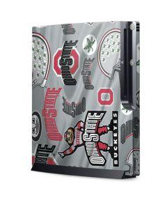 Ohio State Pattern Playstation 3 & PS3 Slim Skin
