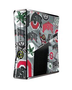 Ohio State Pattern Xbox 360 Slim (2010) Skin