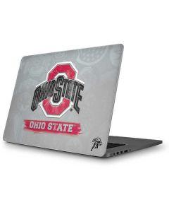 Ohio State Distressed Logo Apple MacBook Pro Skin