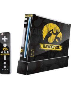 Iowa Hawkeyes Distressed Logo Wii (Includes 1 Controller) Skin