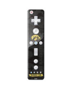 Iowa Hawkeyes Distressed Logo Wii Remote Controller Skin