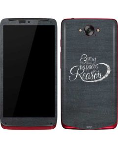 Everything Happens For A Reason Chalk Motorola Droid Skin