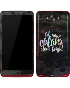 Let Your Colors Shine Bright Motorola Droid Skin
