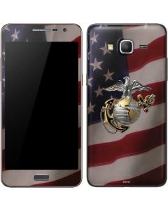 Silver Marine American Flag Galaxy Grand Prime Skin