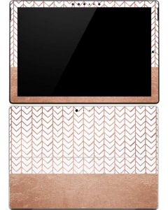 Rose Gold Herringbone Surface Pro 4 Skin