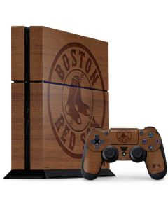 Boston Red Sox Engraved PS4 Console and Controller Bundle Skin
