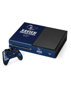 Xavier Musketeers Mascot Blue Xbox One Console and Controller Bundle Skin