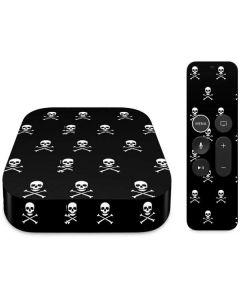 Skull and Crossbones (white) Apple TV Skin