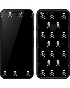 Skull and Crossbones (white) Google Pixel Skin