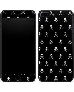 Skull and Crossbones (white) iPhone 7 Plus Skin