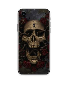 Skull Entwined with Roses iPhone XR Skin