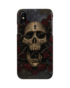 Skull Entwined with Roses iPhone XS Lite Case