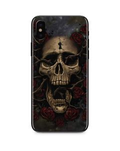 Skull Entwined with Roses iPhone XS Skin