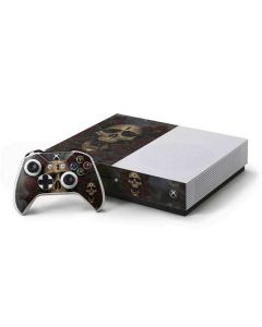 Skull Entwined with Roses Xbox One S Console and Controller Bundle Skin