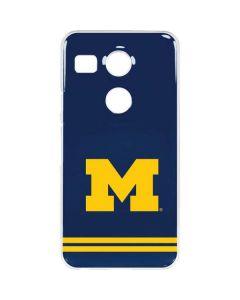 Michigan Logo Striped Google Nexus 5X Clear Case