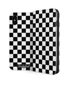 Sneakerhead Checkered iPhone XS Folio Case