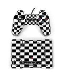 Sneakerhead Checkered PlayStation Classic Bundle Skin