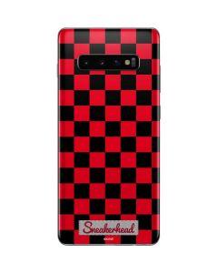 Sneakerhead Red Checkered Galaxy S10 Plus Skin