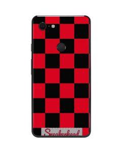 Sneakerhead Red Checkered Google Pixel 3 XL Skin