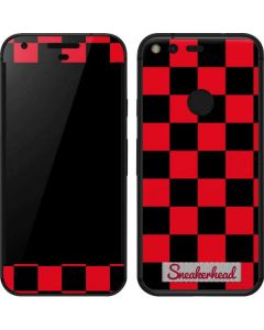Sneakerhead Red Checkered Google Pixel Skin
