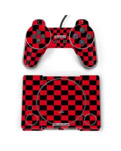 Sneakerhead Red Checkered PlayStation Classic Bundle Skin