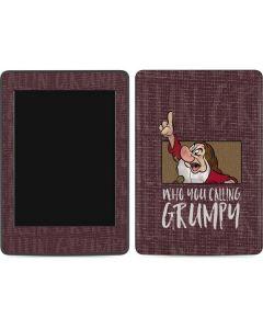 Snow White Grumpy Amazon Kindle Skin