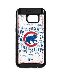 Chicago Cubs - White Cap Logo Blast Galaxy S7 Edge Cargo Case