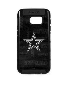 Dallas Cowboys Black & White Galaxy S7 Edge Cargo Case