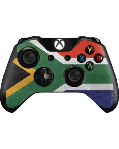 South Africa Flag Distressed Xbox One Controller Skin