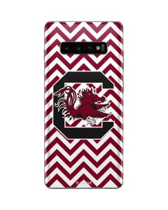 South Carolina Chevron Print Galaxy S10 Plus Skin