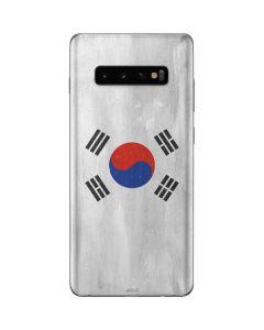 South Korean Flag Distressed Galaxy S10 Plus Skin