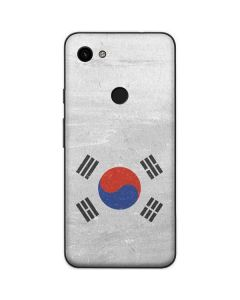 South Korean Flag Distressed Google Pixel 3a Skin