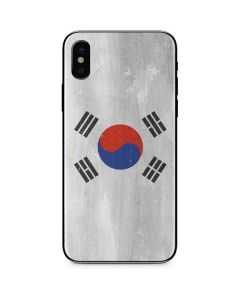 South Korean Flag Distressed iPhone XS Skin