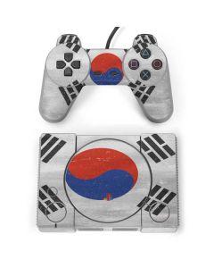 South Korean Flag Distressed PlayStation Classic Bundle Skin