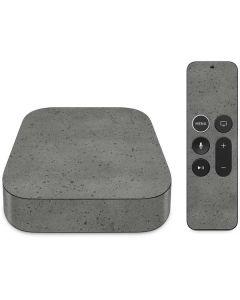 Speckle Grey Concrete Apple TV Skin