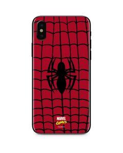 Spider-Man Chest Logo iPhone XS Skin