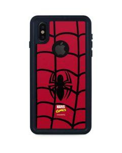 Spider-Man Chest Logo iPhone XS Waterproof Case