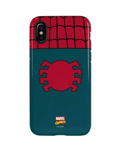 Spider-Man Close-Up Logo iPhone X Pro Case