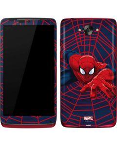 Spider-Man Crawls Motorola Droid Skin