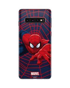 Spider-Man Crawls Galaxy S10 Skin