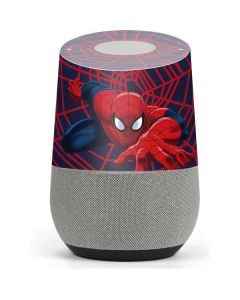 Spider-Man Crawls Google Home Skin
