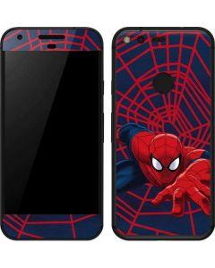 Spider-Man Crawls Google Pixel XL Skin