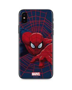 Spider-Man Crawls iPhone XS Skin