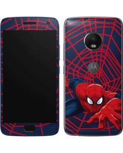 Spider-Man Crawls Moto G5 Plus Skin
